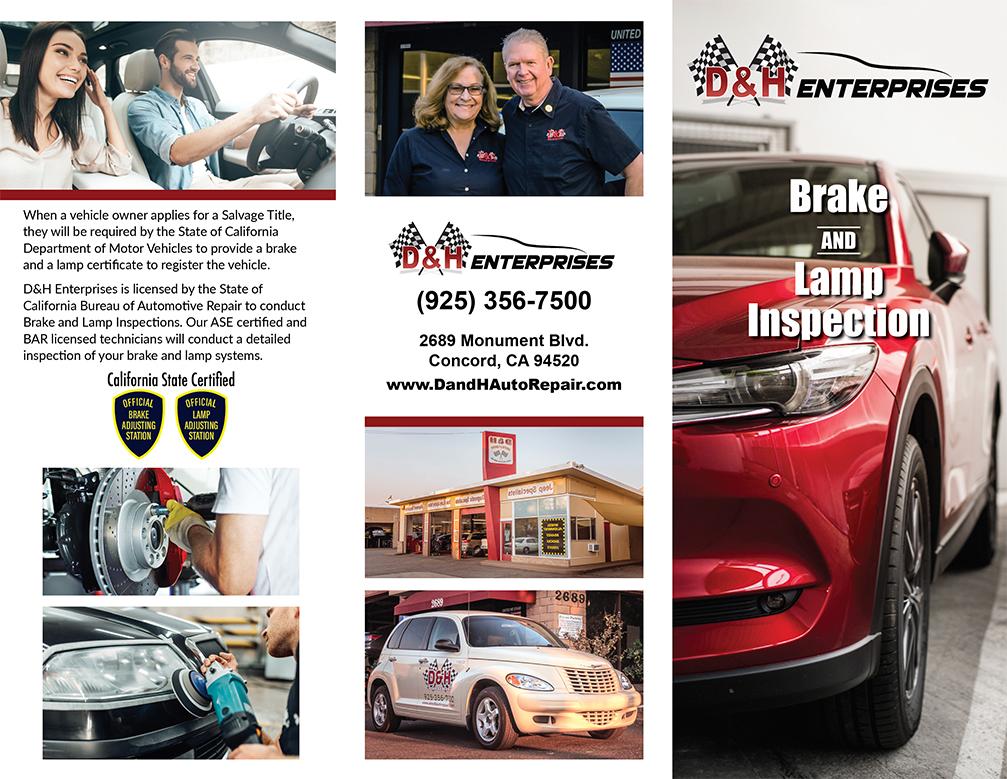 D&H brake brochure front