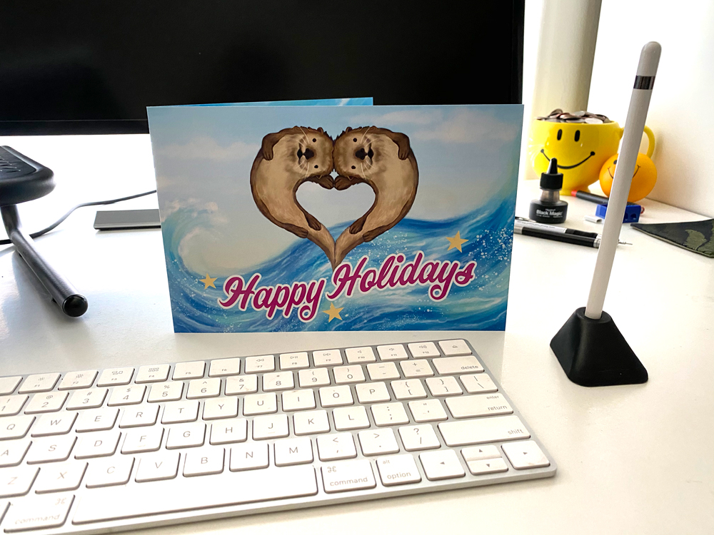 otters_holiday_card_Rock_Star_Marketing